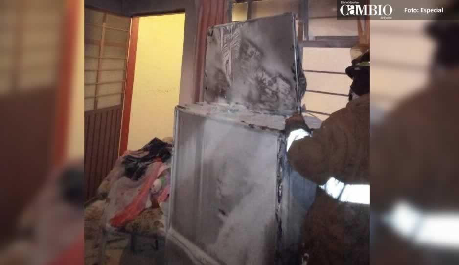Impacta rayo una vivienda en Amozoc y achicharra la televisión