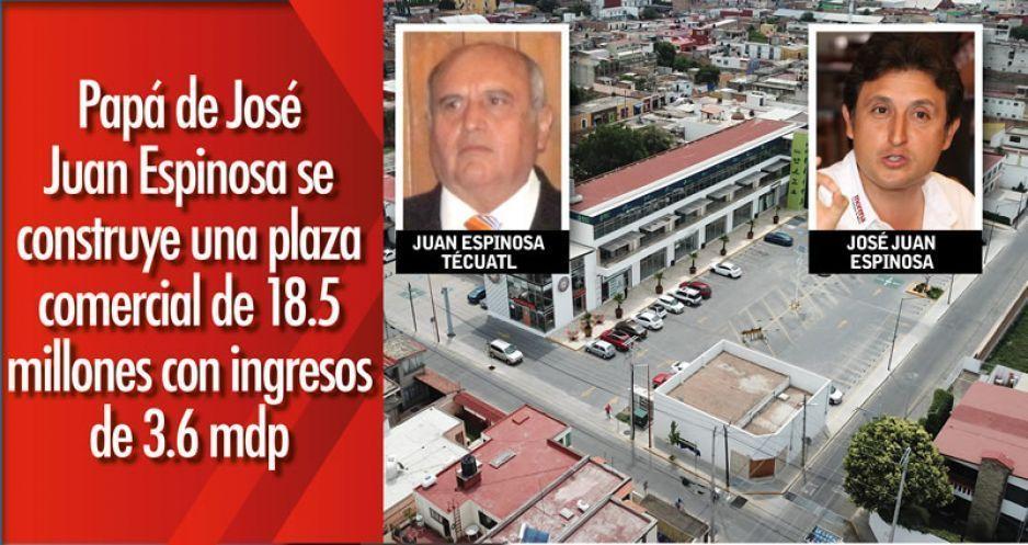 Papá de José Juan Espinosa se construye una plaza comercial de 18.5 millones con ingresos de 3.6 mdp