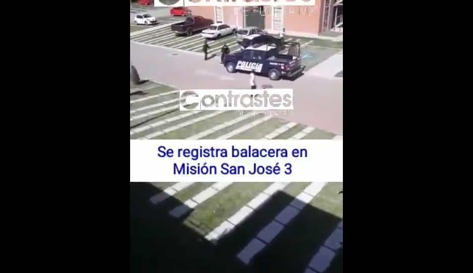 Balacera en Misión de San José: agrede a su esposa y dispara contra policías municipales (VIDEO)