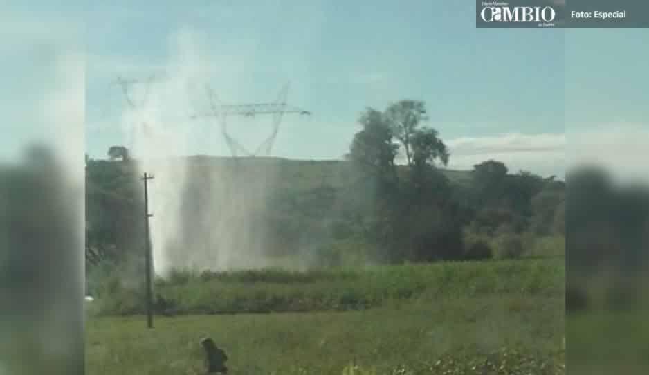 Se registra otro derrame de combustible, ahora fue en Tepatlaxco