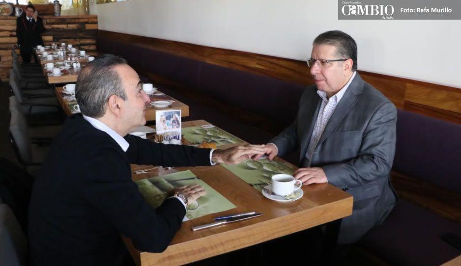 Estefan se reúne con Doger: está dispuesto a quedarse en la dirigencia del PRI