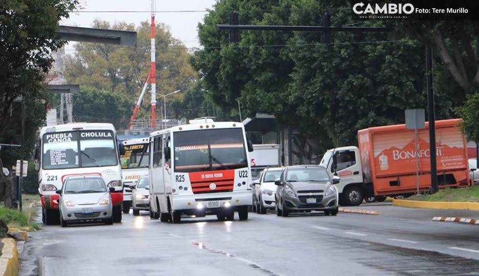 Segundo informe de Gali ocasiona caos vial en el bulevar 5 de Mayo (FOTOS)
