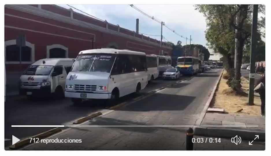 Caos vial tras bloqueo de la 11 norte y 18 poniente (VIDEO)