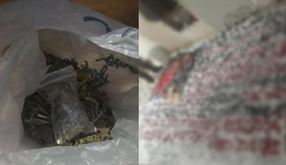 Asegura FGE droga y narcomanta durante cateo en Almecatla