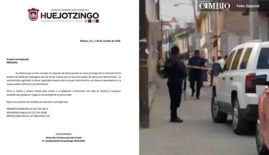 Vecinos reportan balaceras en comunidades de Huejotzingo; autoridades lo niegan