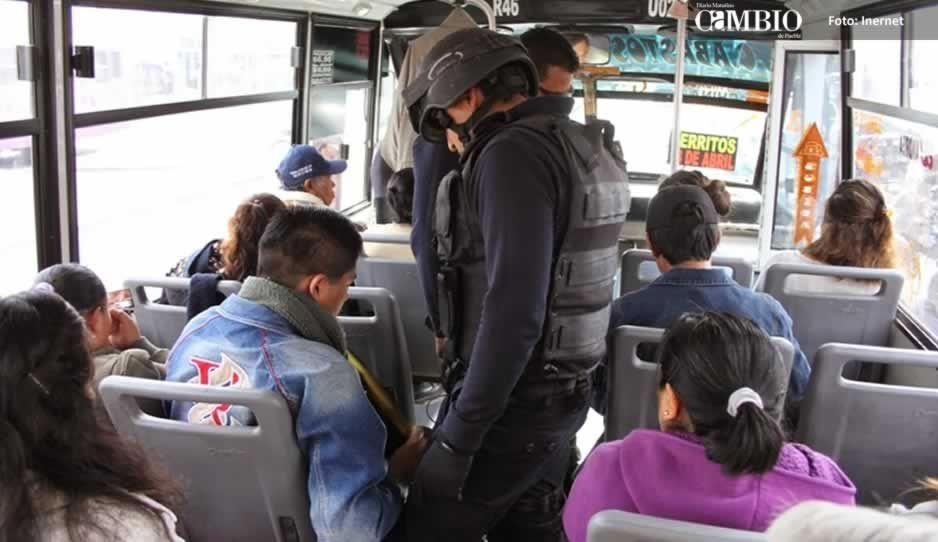 Cae banda dedicada al robo a transporte público en Puebla