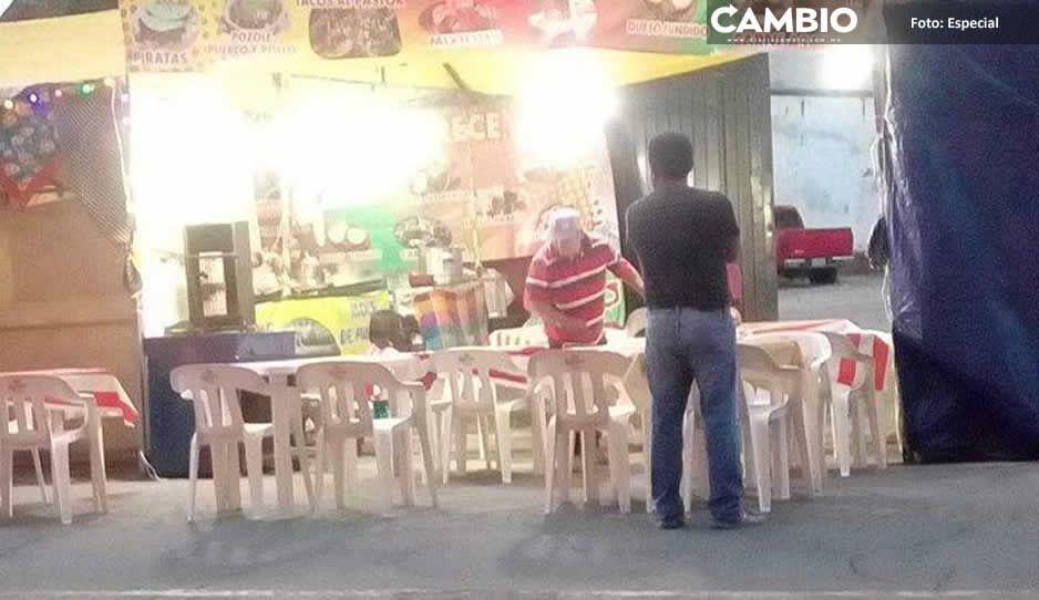 Comerciantes hacen su agosto en Villa Iluminada de Atlixco