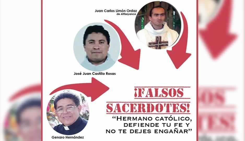 Arquidiócesis de Puebla denuncia a tres falsos sacerdotes