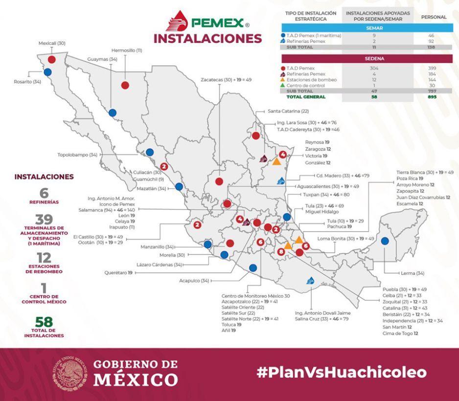 Ejército toma ocho instalaciones de Pemex en Puebla