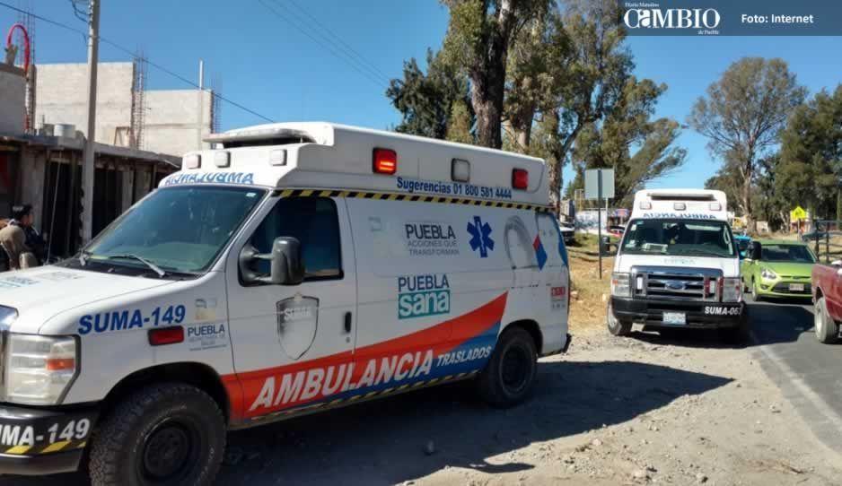 Rescatan a mujer tras caer en barranca en Huejotzingo