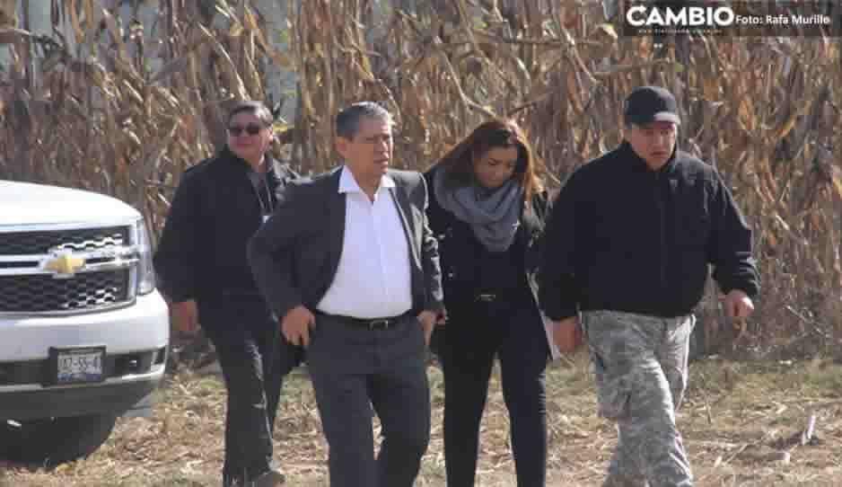 Confirma Higuera Bernal que hoy culminará el traslado de los restos del helicóptero donde MEA y RMV perdieron la vida