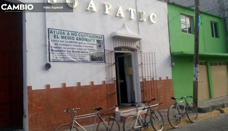 Funcionarios de Tecamachalco  acosan a empleados del Soapatec