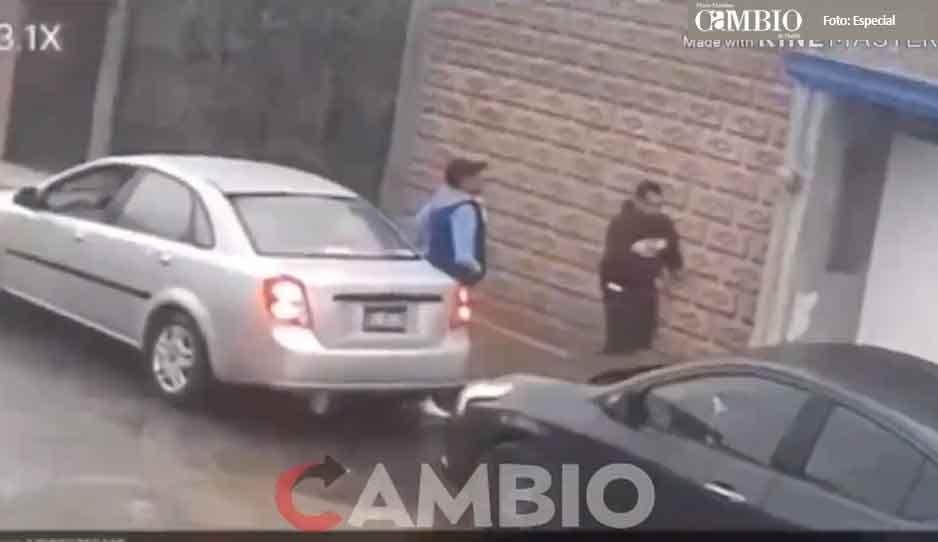 Así roban ratas de autopartes a plena luz del día en Bosques de Amalucan (VIDEO)