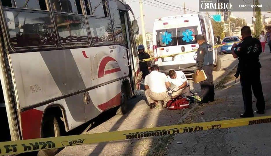 Asesinan a chofer de Los Cholulas por resistirse a asalto