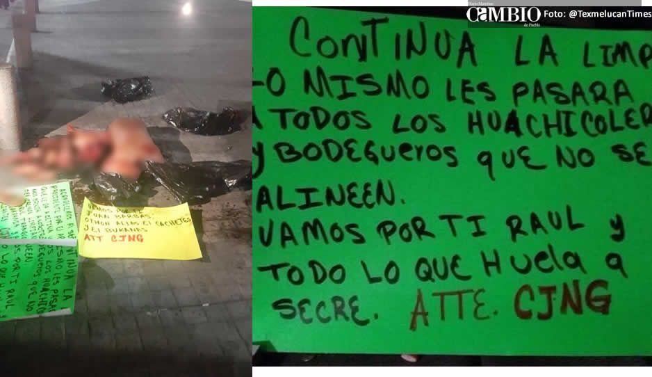 Hallan cuerpo desmembrado con tres narcomensajes en San Martín