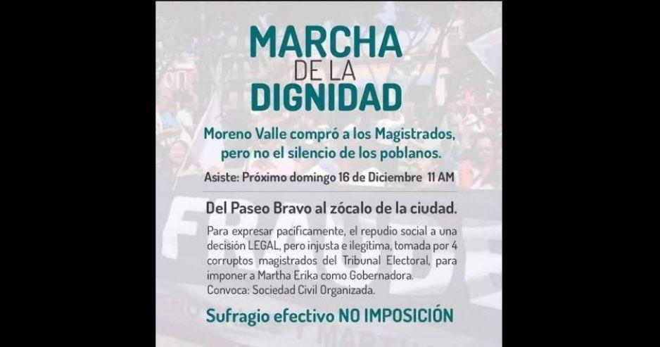Por Whatsapp convocan a nueva marcha contra Martha Erika