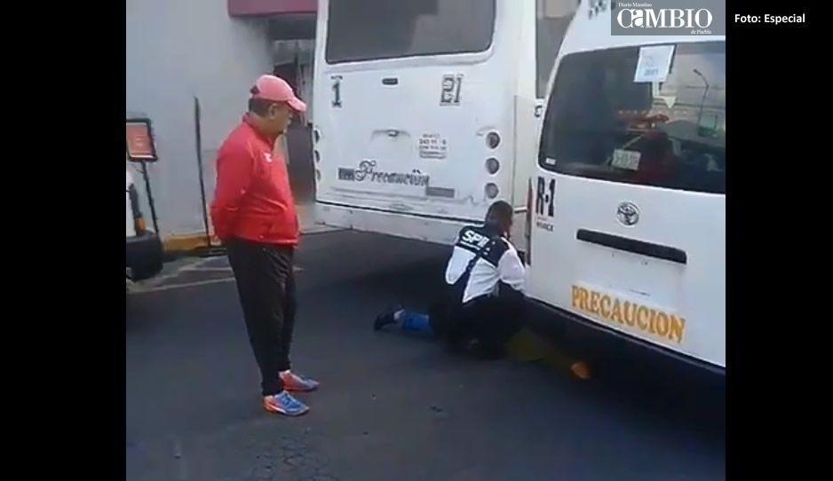 Así dejó la ruta 1 a mujer tras atropellarla en la 21 sur (VIDEO)