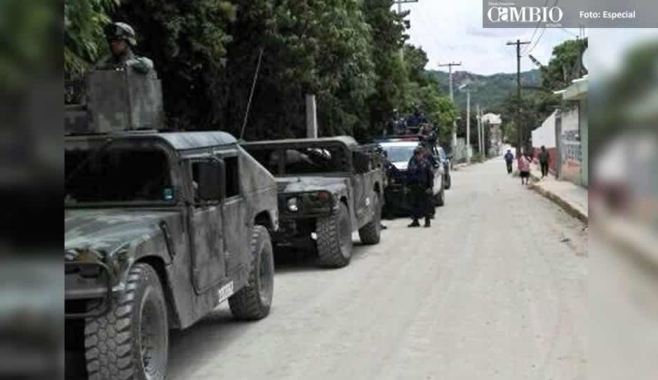 Bases de Operaciones Mixtas catea predio y asegura dos unidades en El Verde