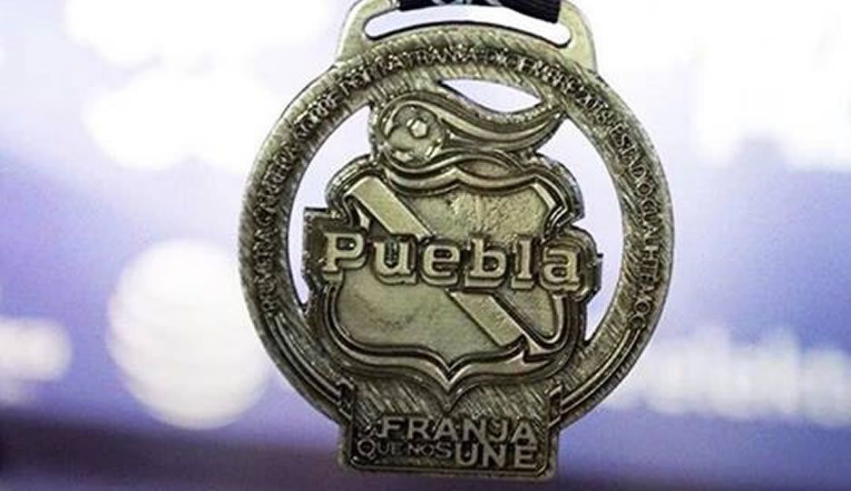 ¡Wooooooow! Así será la medalla de la carrera de 5 y 10 km del Club Puebla ¿Te la vas a perder?