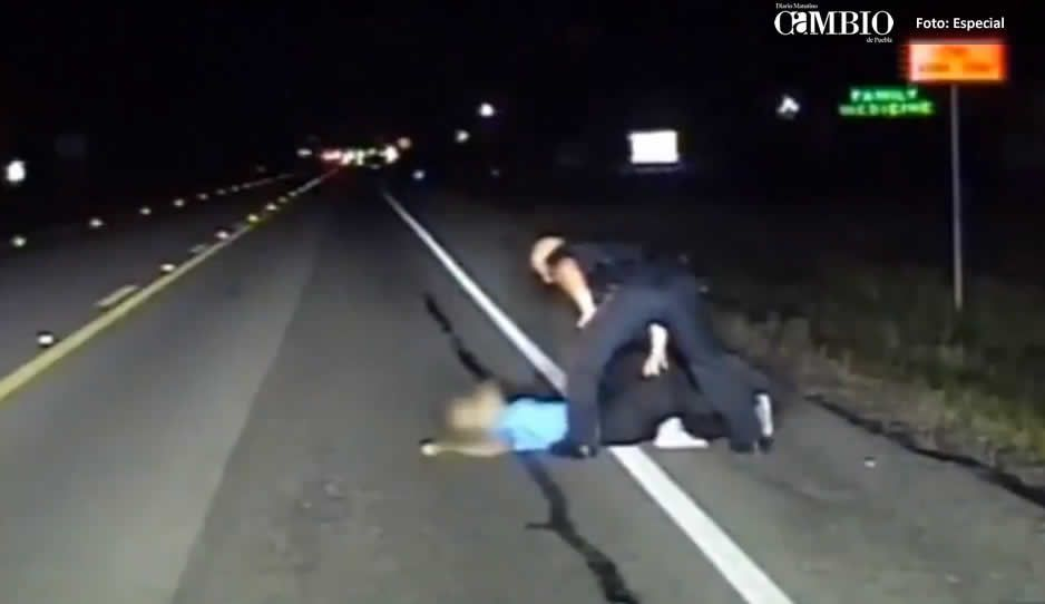 VIDEO: Borracha se acuesta a mitad de la carretera