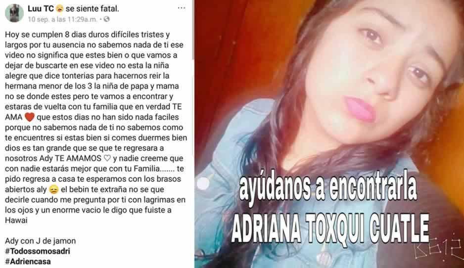 Menor reportada como desaparecida, fue sustraída de manera ilegal en Cholula