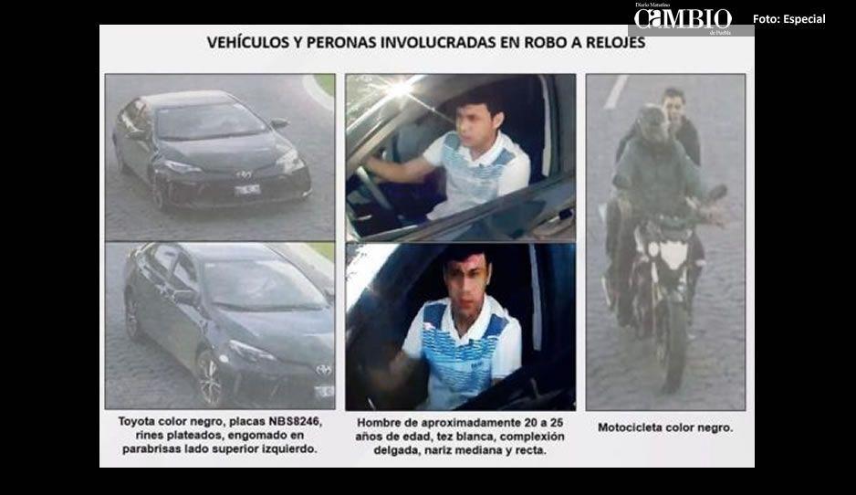 Identifican a uno de los ladrones de relojes que operan en la Vía Atlixcáyotl