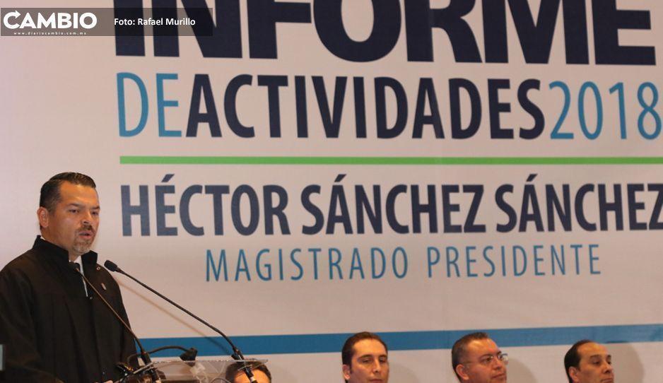 Hay déficit de jueces y con sobrecarga de  trabajo en el TSJ, revela Héctor Sánchez