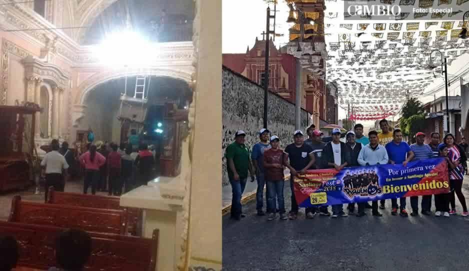 Reabre iglesia de Santiago Xicotenco tras sismo que dañó su estructura