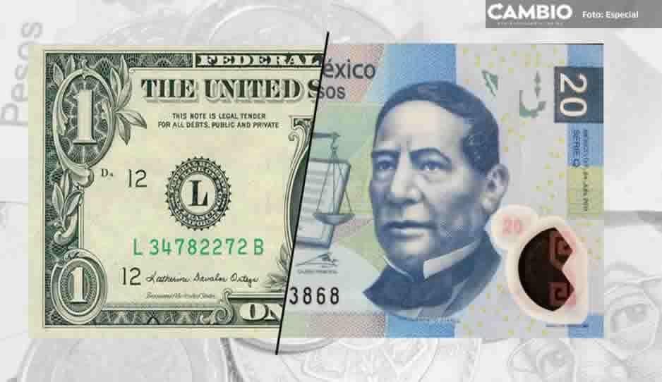 Precio del dólar hoy viernes 7 de diciembre; se cotiza en un máximo de 20.47 pesos