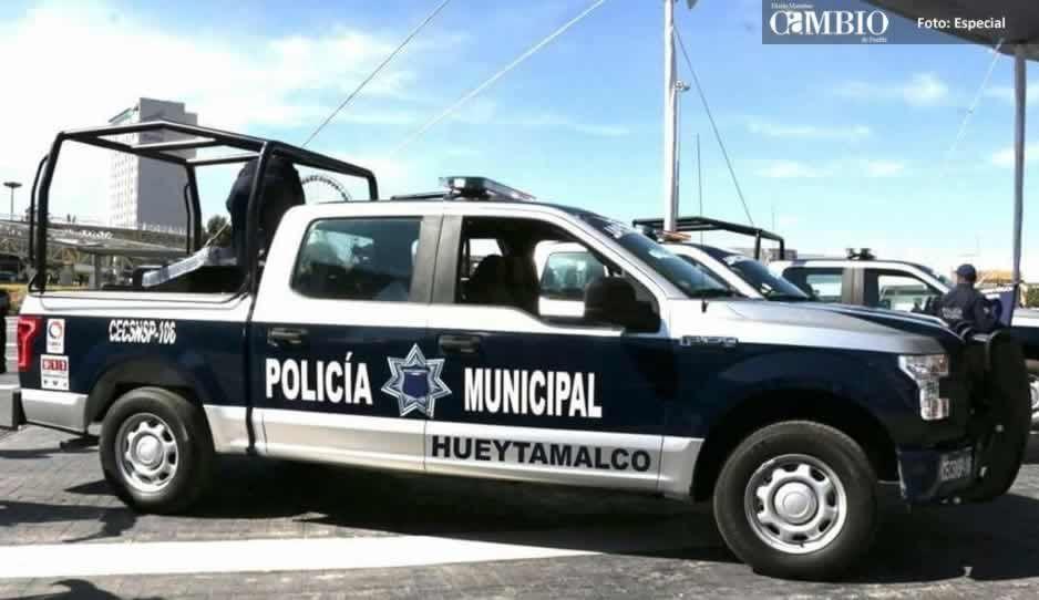 Comando armado asalta a policías de Hueytamalco