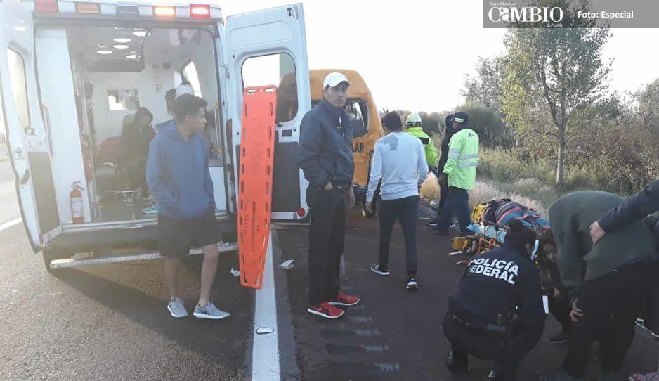 Choque por alcance deja ocho lesionados en la México-Puebla