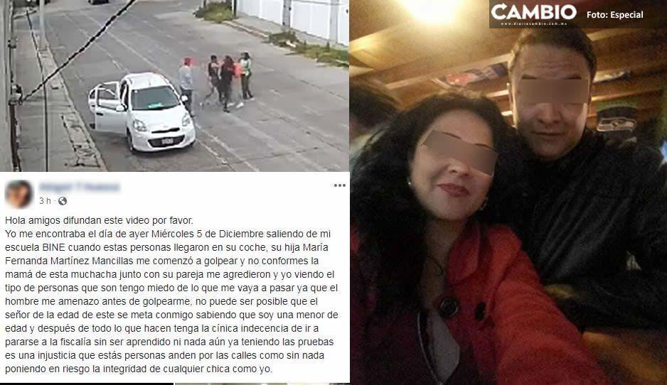 Alumna del BINE teme por su seguridad tras ser golpeada y amenazada por una pareja al salir de clases (VIDEO)