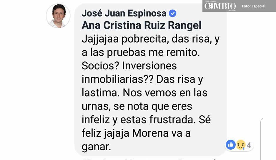 El JJ también se pone lépero, llama infeliz y frustrada a Ana Cristina Ruiz