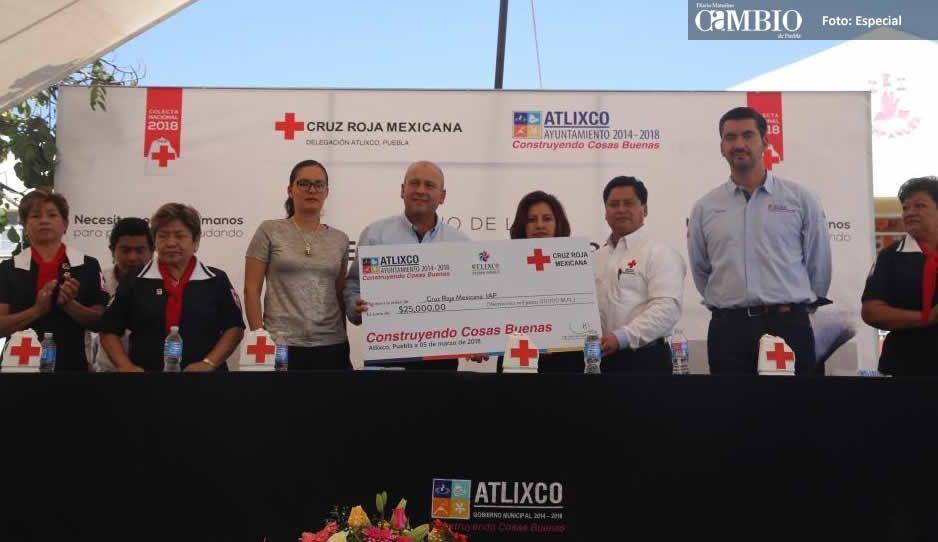 Inician Gobierno de Atlixco y Cruz Roja la colecta 2018