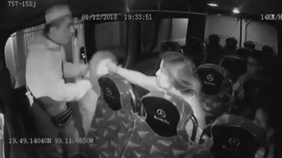 Se registró asalto en el transporte público ¡Hasta las chamarras se llevó!