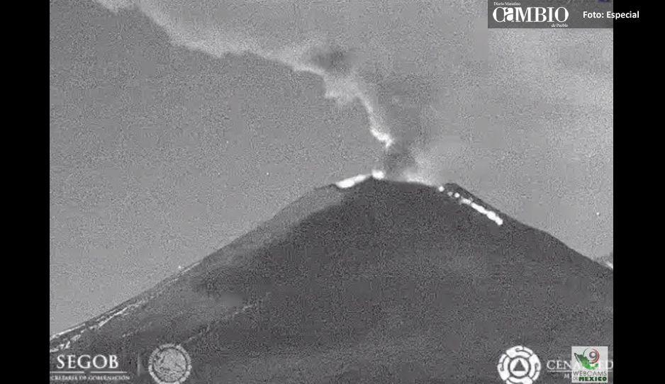 ¡Alerta de caída de ceniza del Popocatépetl en Puebla, CDMX, Edomex y Tlaxcala! Toma precauciones