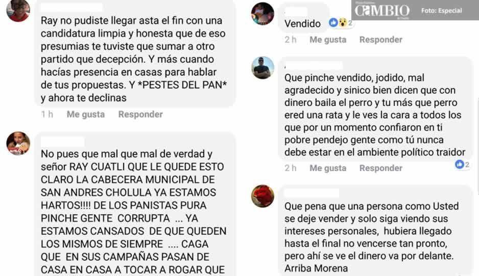 Seguidores de Raymundo Cuautli repudian alianza con el PAN