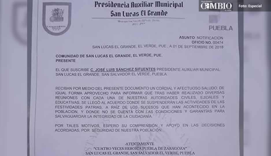 Por inseguridad suspenden fiestas patrias en comunidad huachicolera de El Verde