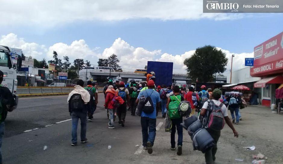Migrantes de paso por Texmelucan hacia la Unión Americana