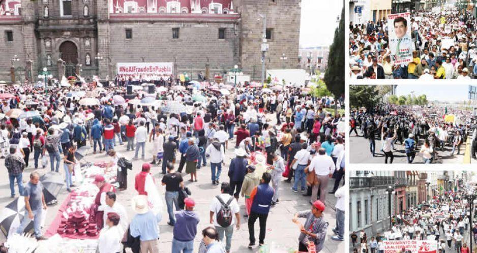 Manifestaciones contra Marín y Ley Bala superaron minimarcha barbosista