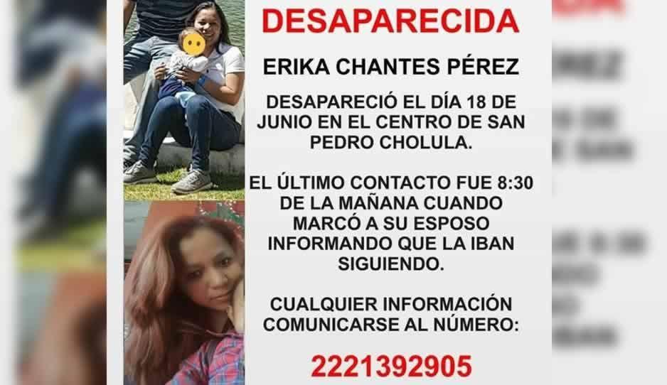 Ayuda a encontrar a Erika Chantes, desaparecida en San Pedro Cholula