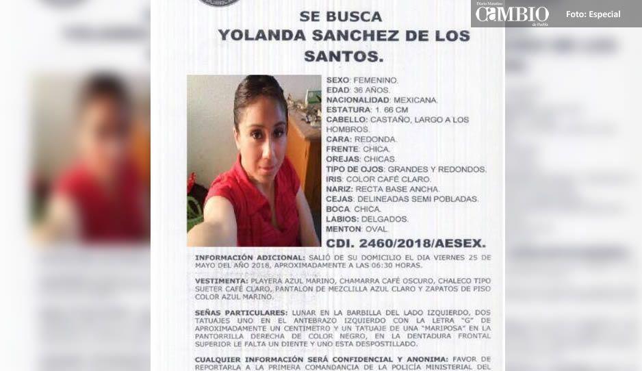 Ayúdanos a encontrar a Yolanda Sánchez, desaparecida el 25 de mayo