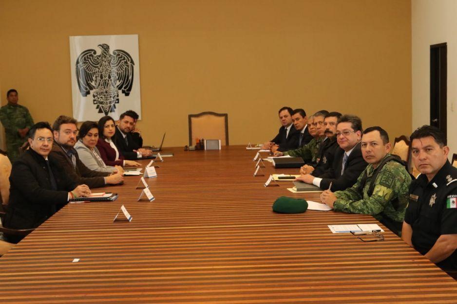 Rodríguez Almeida encabeza reunión para garantizar seguridad en Puebla