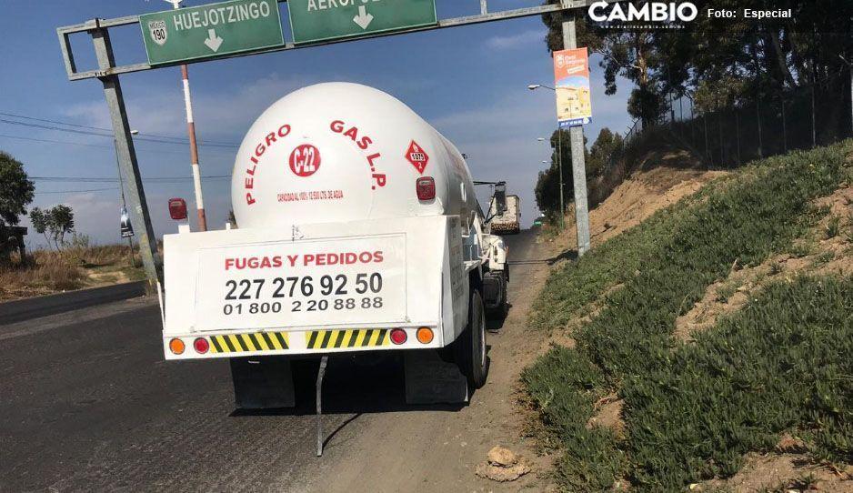 Los detienen en Huejotzingo con 12 mil litros de LP cuya procedencia no acreditaron
