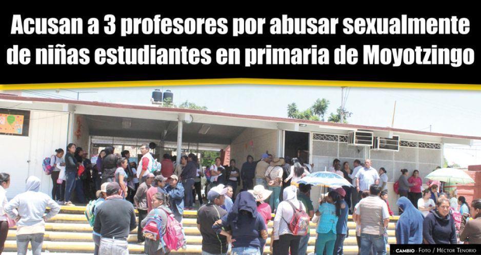 VIDEO: Acusan a 3 profesores por abusar sexualmente  de niñas estudiantes en primaria de Moyotzingo