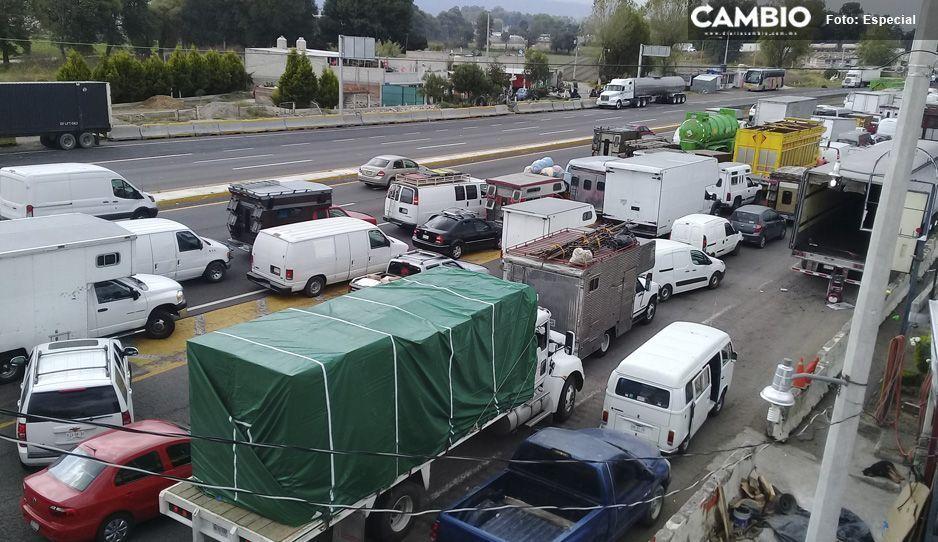 Por segunda semana, fracasa el operativo de ingreso a tianguistas en Texmelucan