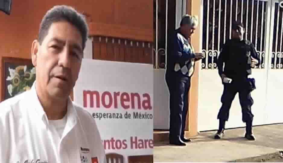 ¡Sinvergüenza hampón! Edil de Morena en Juan Galindo envía a sus policías a pedir dinero casa por casa