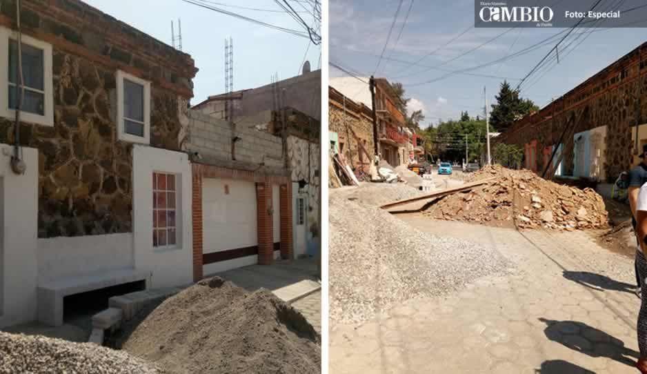 Detienen reparación de viviendas de Metepec