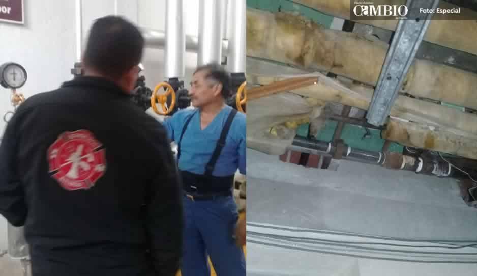 Explota tubería de vapor y causa alarma en hospital del IMSS de Metepec