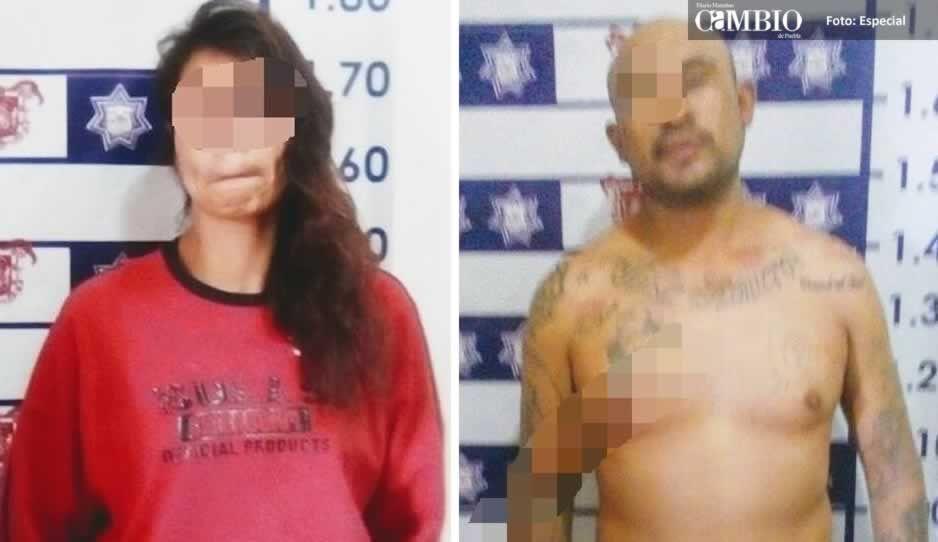 Detienen a pareja por robo agravado en Huejotzingo
